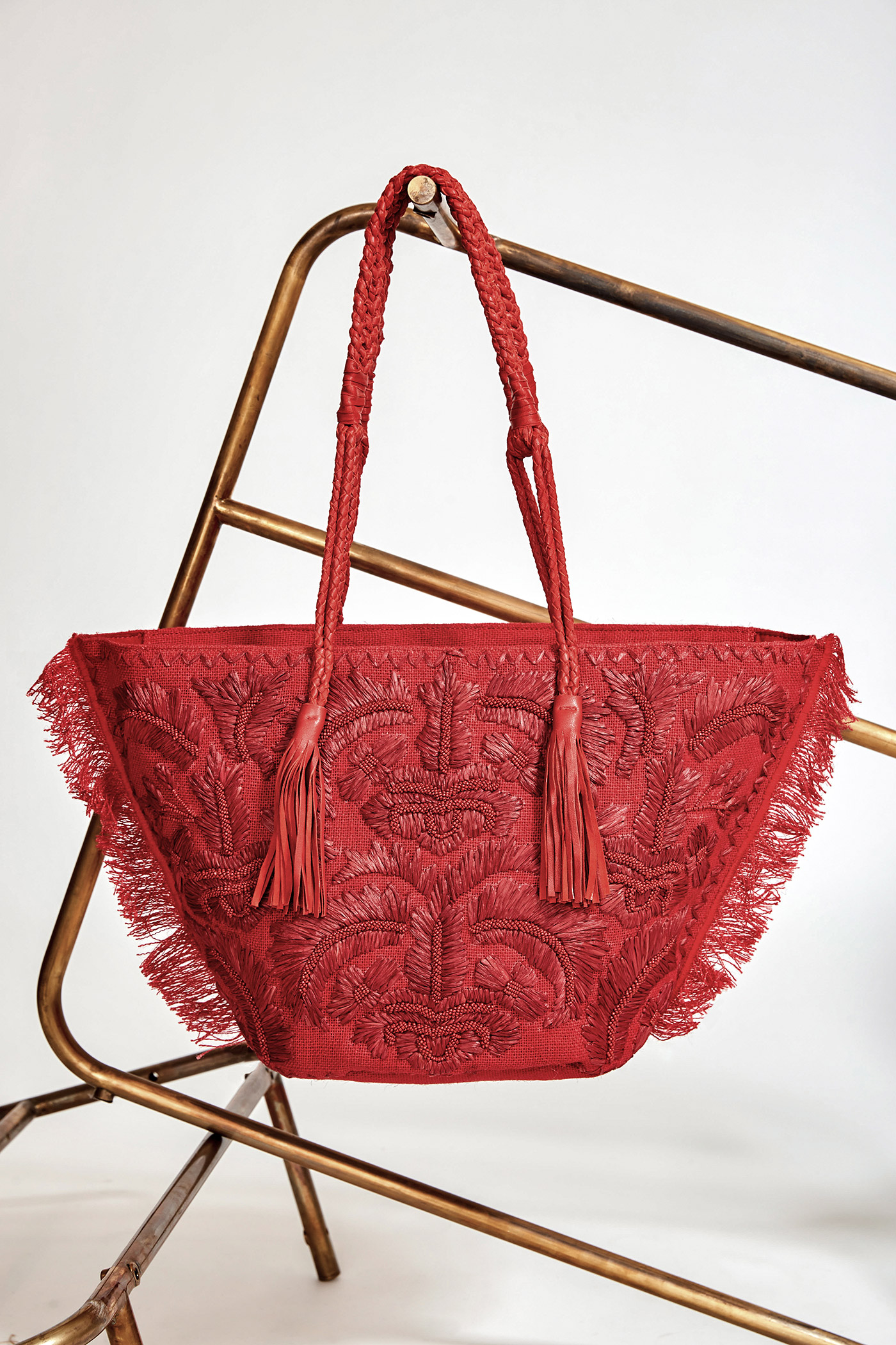 Cabas Puppa rouge - Antik Batik (photo)