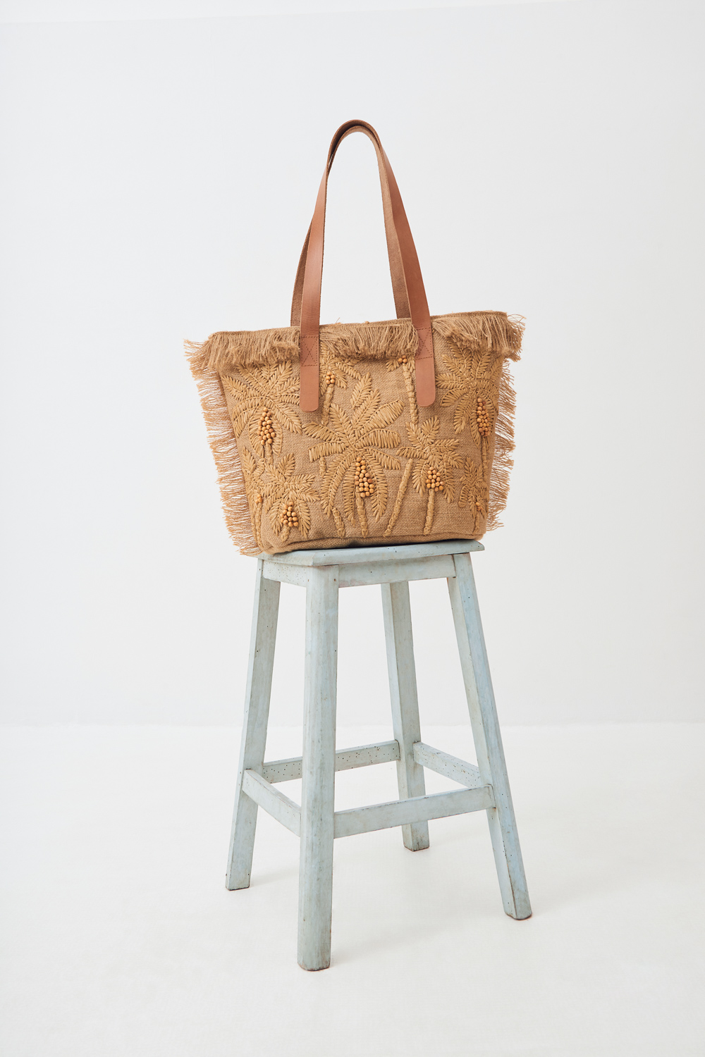 Sac raphia Barry - Beige - Antik Batik (photo)