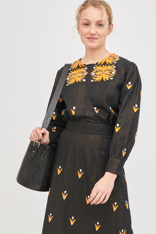 Blouse brodée Mexi - Noir - Antik Batik (photo)