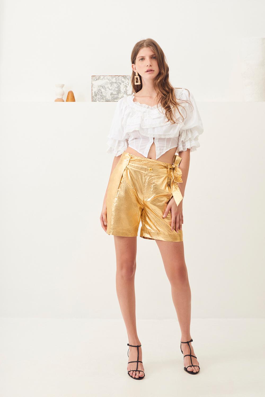 Short taille haute brillant Lumi - Doré - Antik Batik (photo)