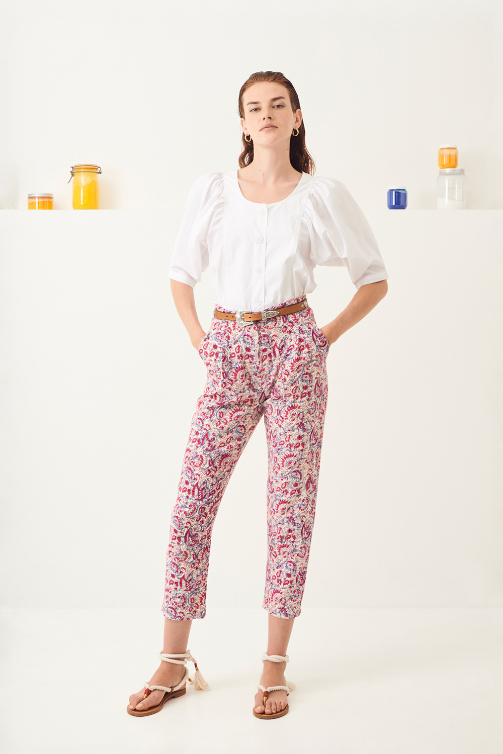 Pantalon carotte Chérie - Rose - Antik Batik (photo)