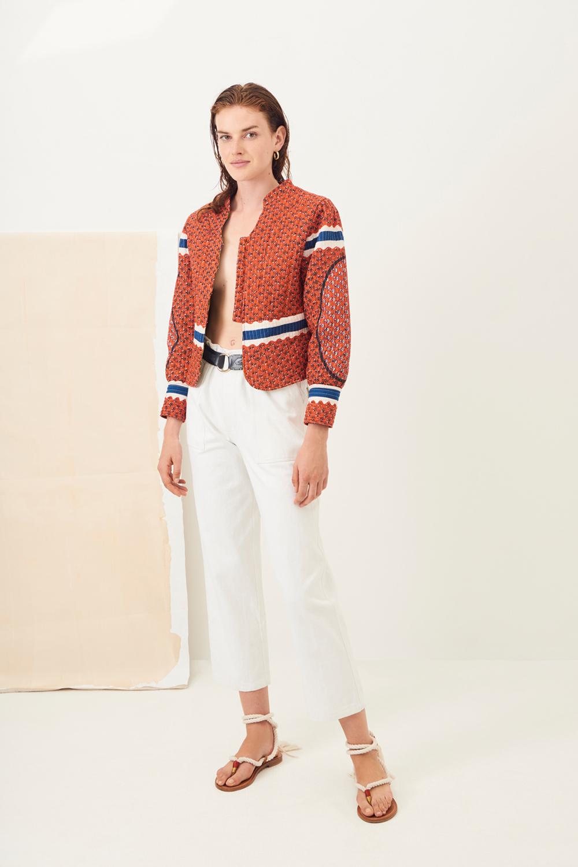 Pantalon chino coton Ronan - Blanc - Antik Batik (photo)