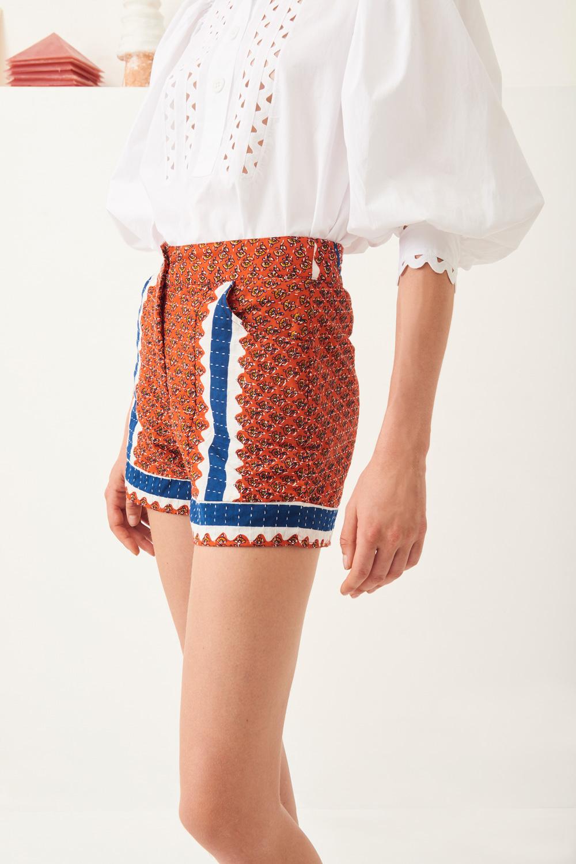 Short matelassé coton Gisele - Rouge - Antik Batik (photo)