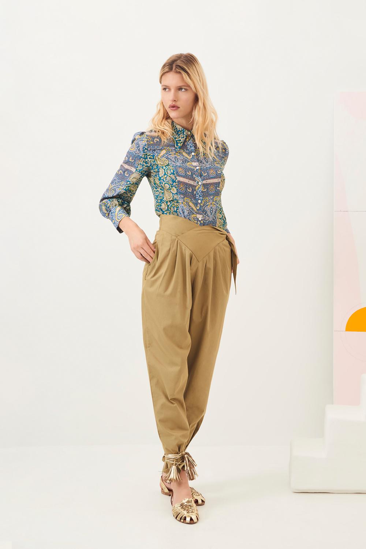 Pantalon carotte popeline Popy - Kaki - Antik Batik (photo)