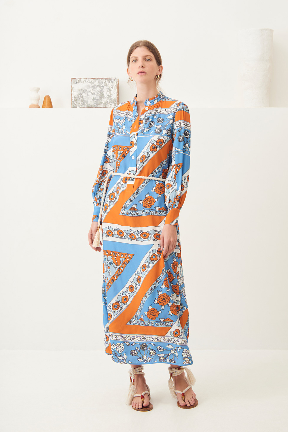 Robe chemise fluide Léandra - Antik Batik (photo)