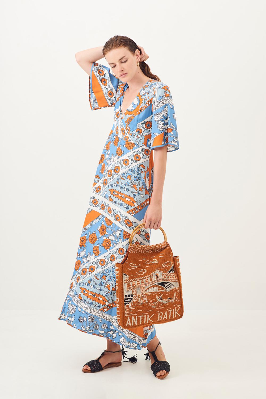 Robe longue fluide Léandra - Antik Batik (photo)