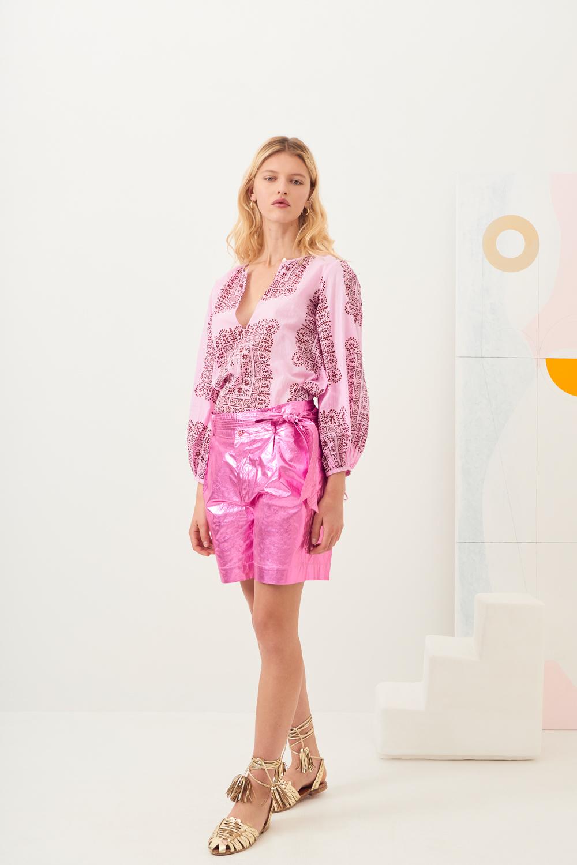 Short taille haute brillant Lumi - Rose - Antik Batik (photo)