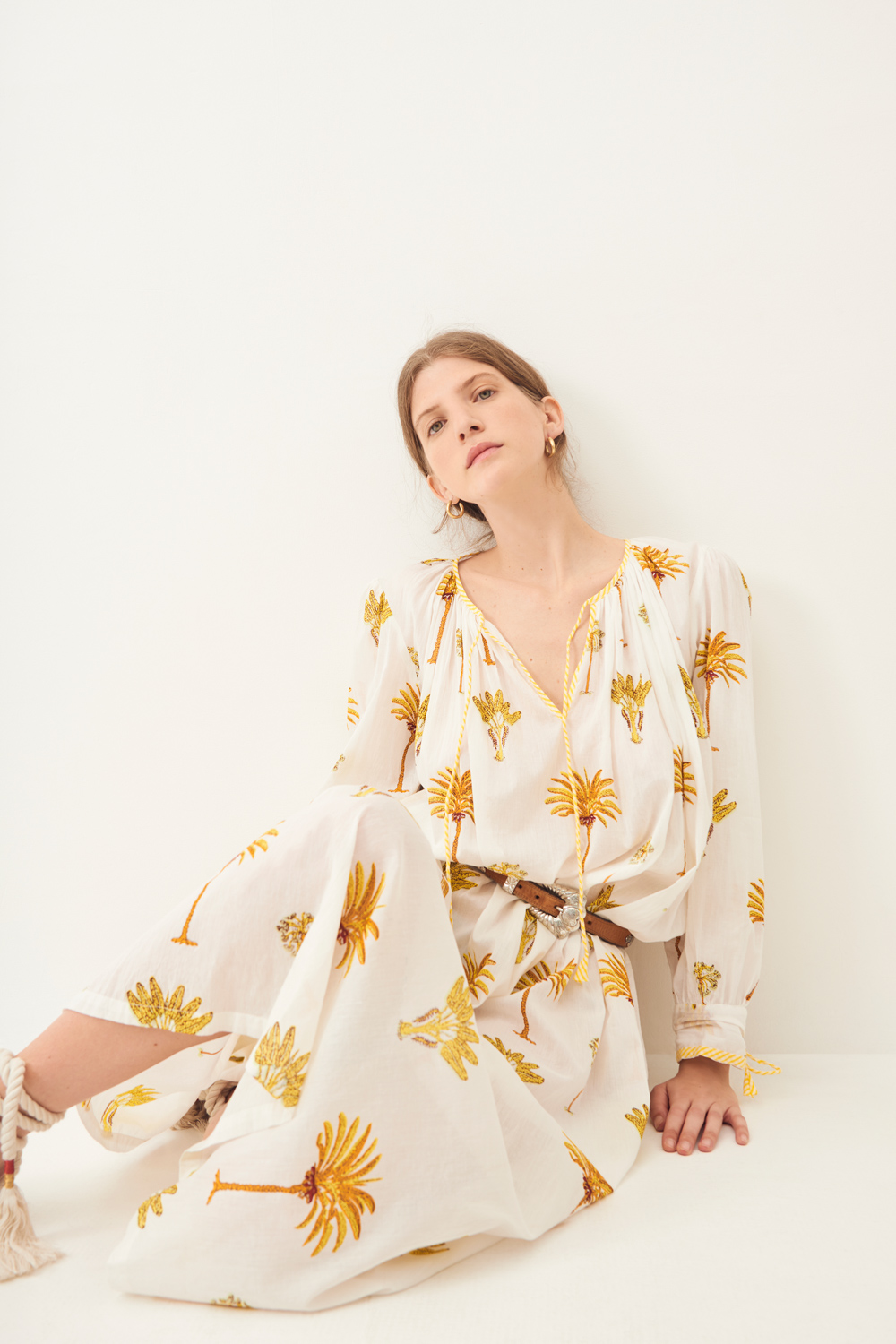 Maxi robe fluide Palmy - Jaune - Antik Batik (photo)