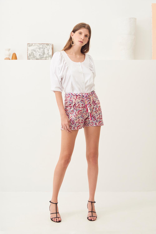 Short coton imprimé Chérie - Rose - Antik Batik (photo)