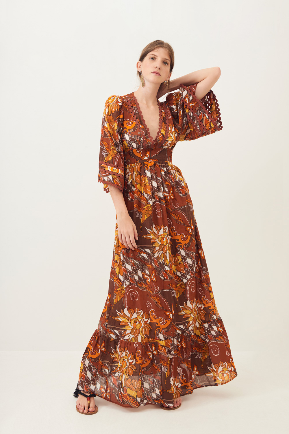 Robe longue fluide Ramba - Antik Batik (photo)