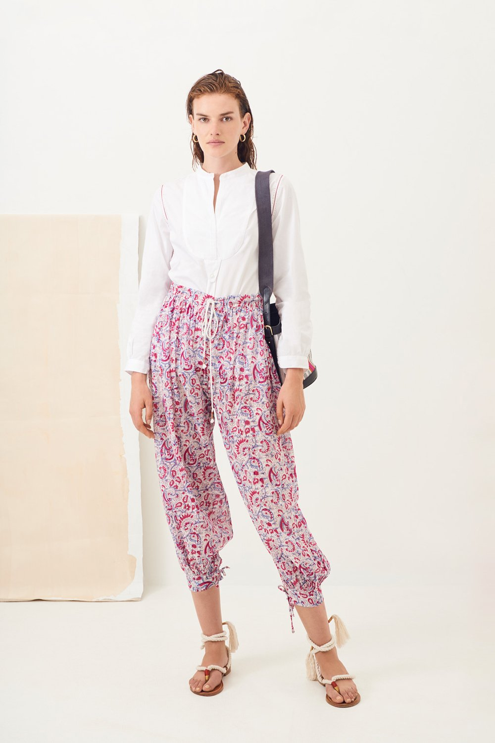 Pantalon sarouel imprimé Chérie - Rose - Antik Batik (photo)