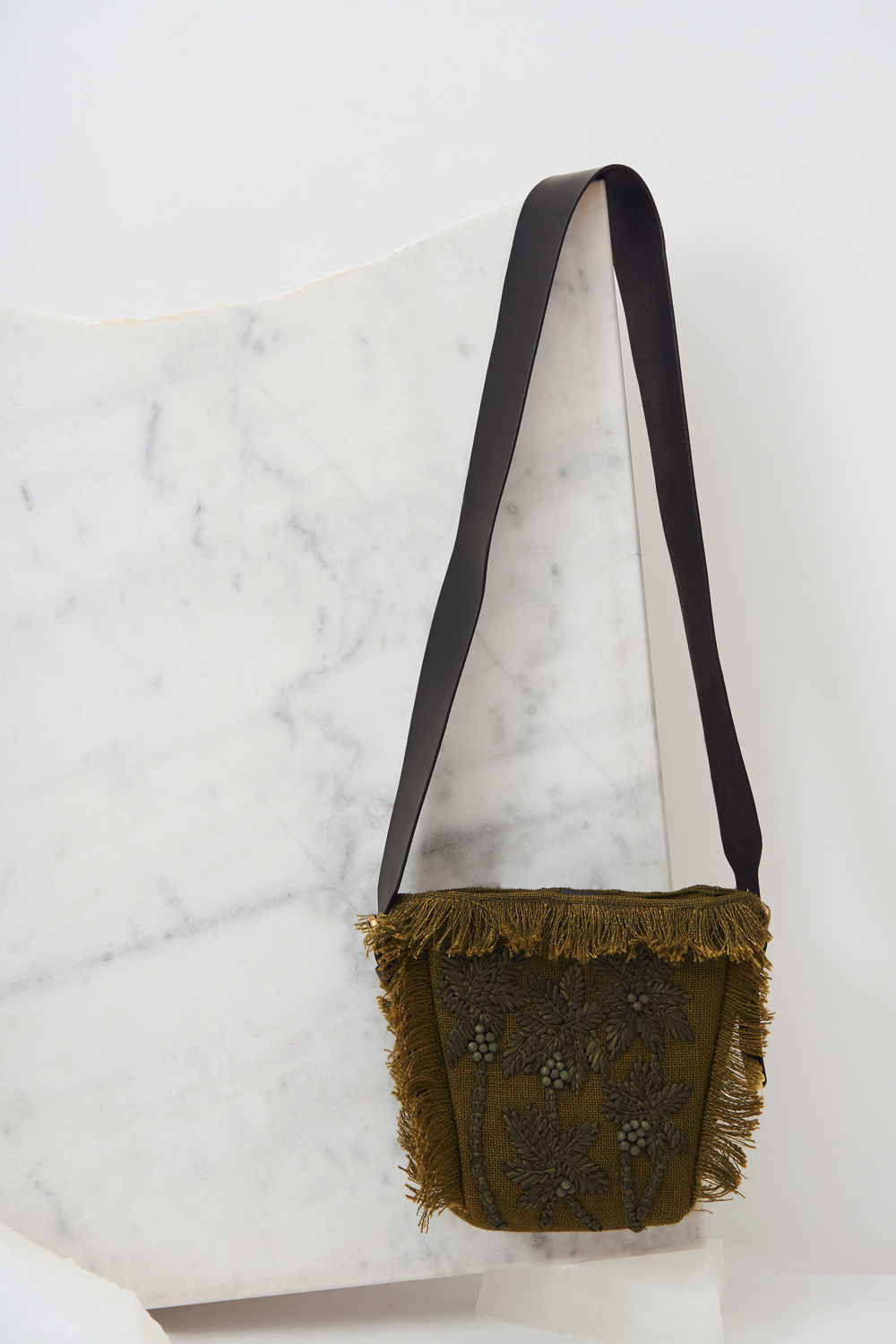 Petit sac raphia Barry - Kaki - Antik Batik (photo)