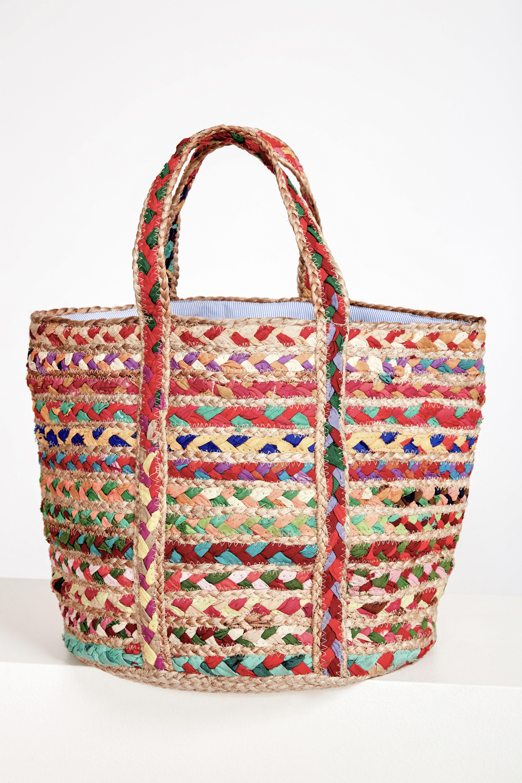 Cabas jute tressée Jella - Multicolore - Antik Batik (photo)