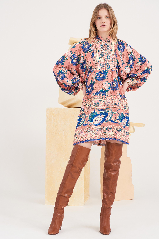 Robe courte imprimée Abbye - Antik Batik