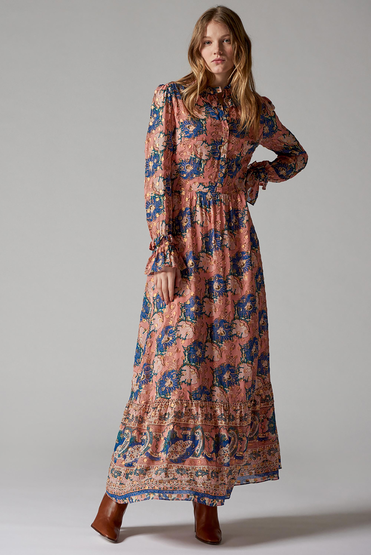 Robe longue imprimée Abbye - Antik Batik