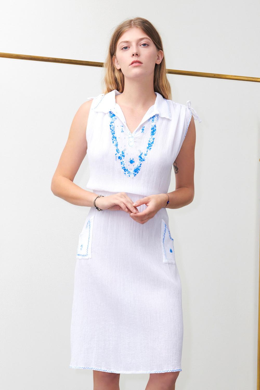 Robe Albane blanche - Antik Batik (photo)