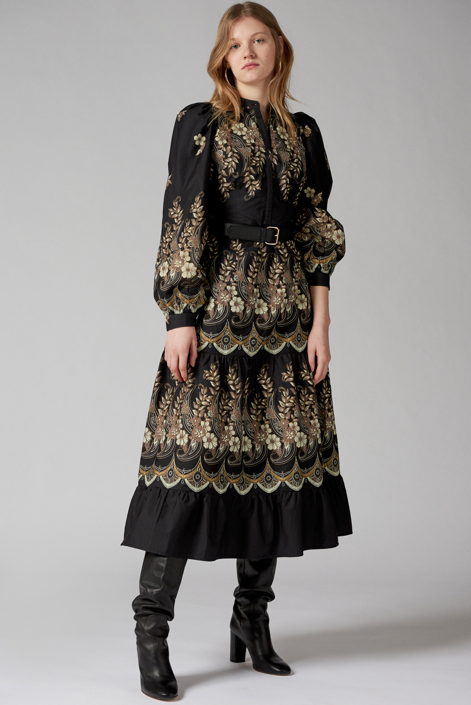Robe longue imprimée Amelino - Antik Batik (photo)