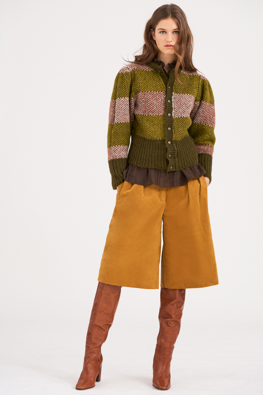 Gilet alpaga Arthur - Vert - Antik Batik
