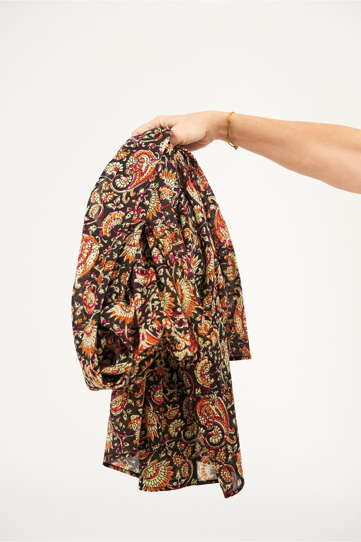 Paréo coton Chérie - Noir - Antik Batik (photo)