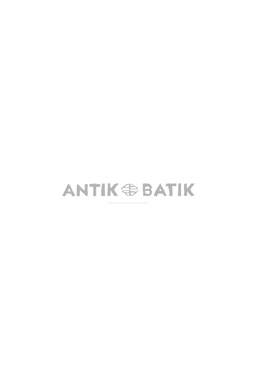 Antikbatik Robe noire volantée à pois Pita