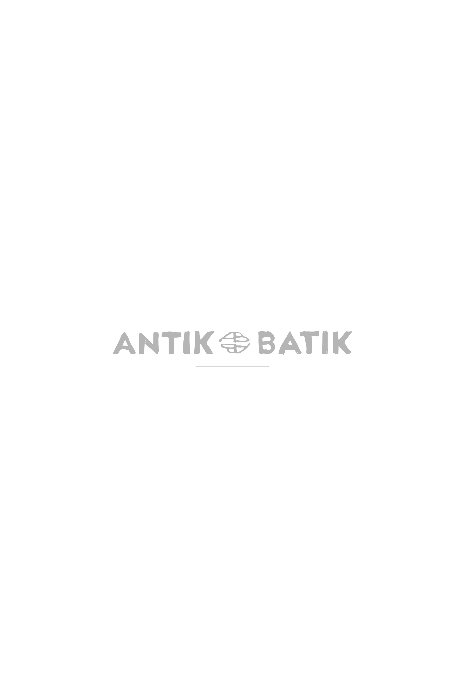 Antikbatik Robe longue brodée Emilia - Noir