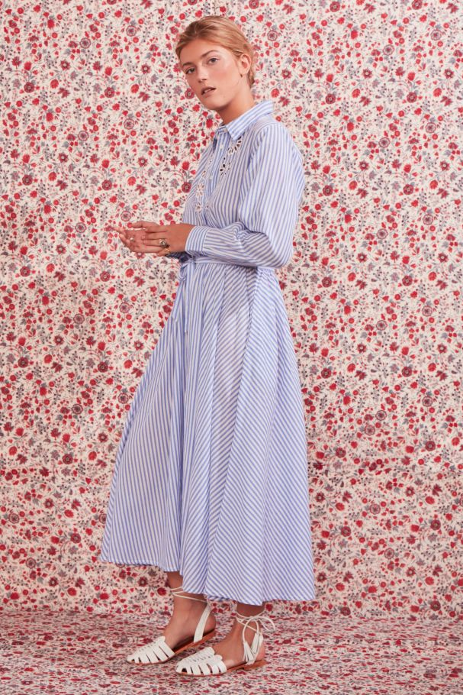 Antikbatik Maryna Long Striped Dress