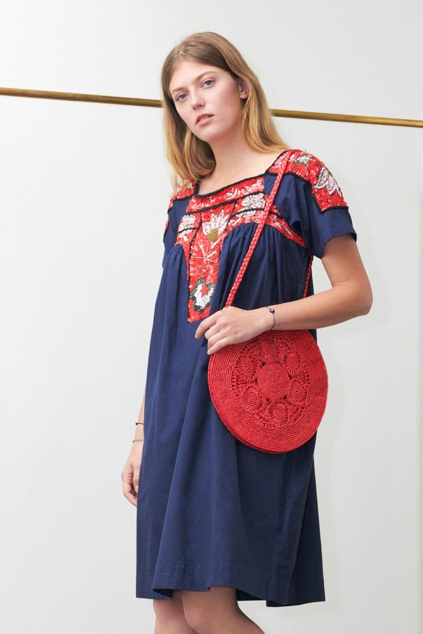 Antikbatik Chacha Navy Dress