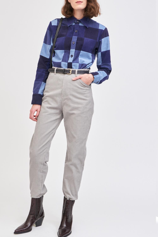 Pantalon en velours côtelé Foly - Gris - Antik Batik (photo)