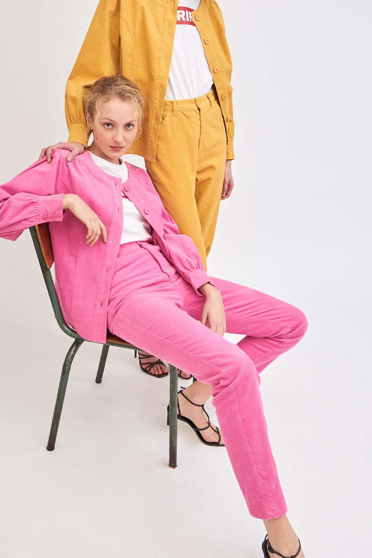 Pantalon en velours côtelé Foly - Rose - Antik Batik (photo)