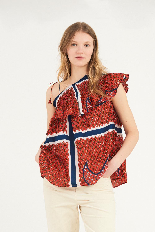 Haut épaule dénudée Gisele - Rouge - Antik Batik (photo)