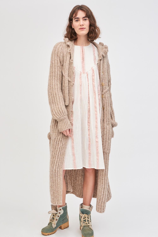 Robe à rayures brillantes Julia - Crème - Antik Batik (photo)