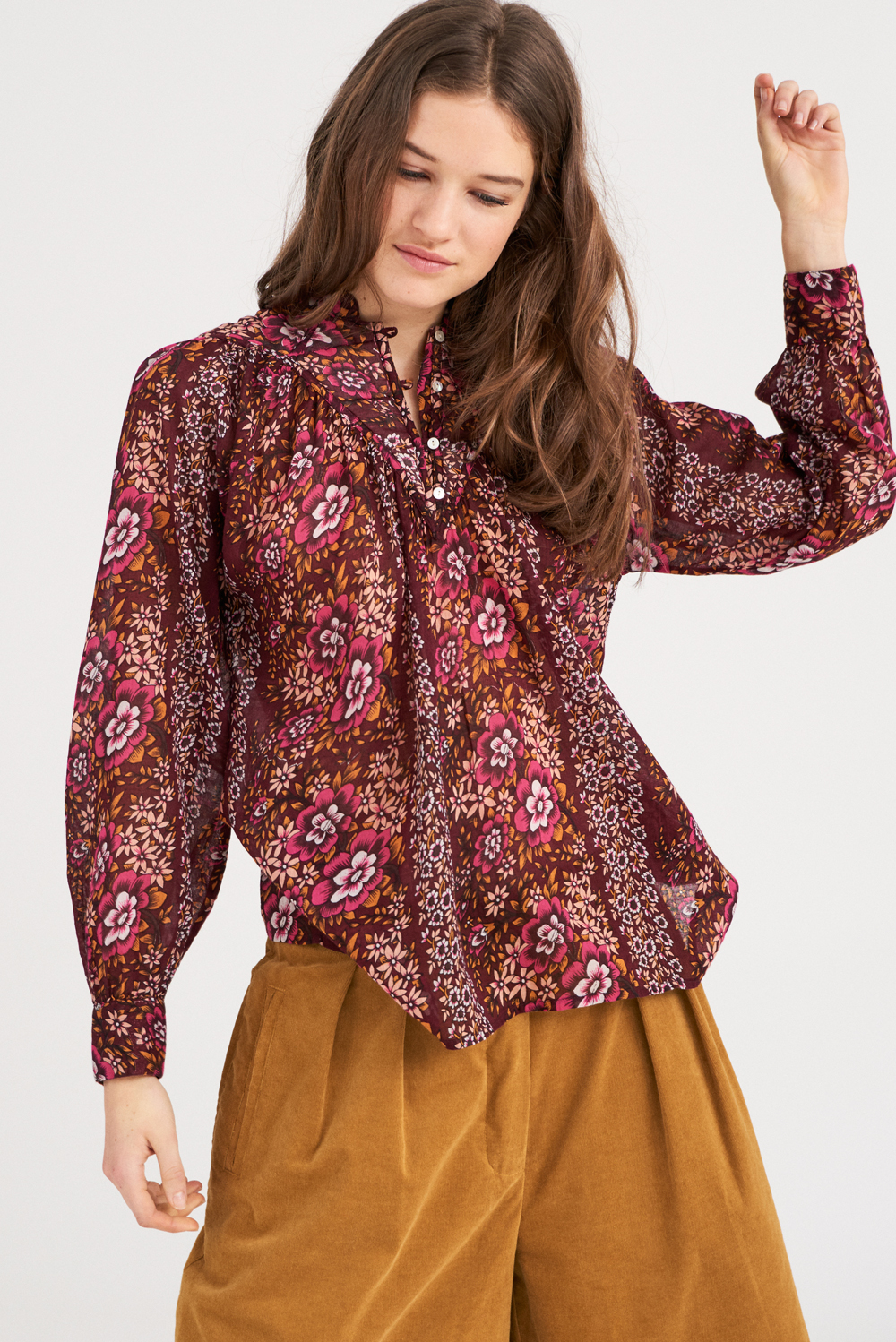 Blouse à fleurs Lady - Antik Batik (photo)
