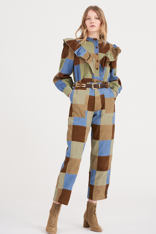 Pantalon patchwork Lamo - Vert pastel - Antik Batik