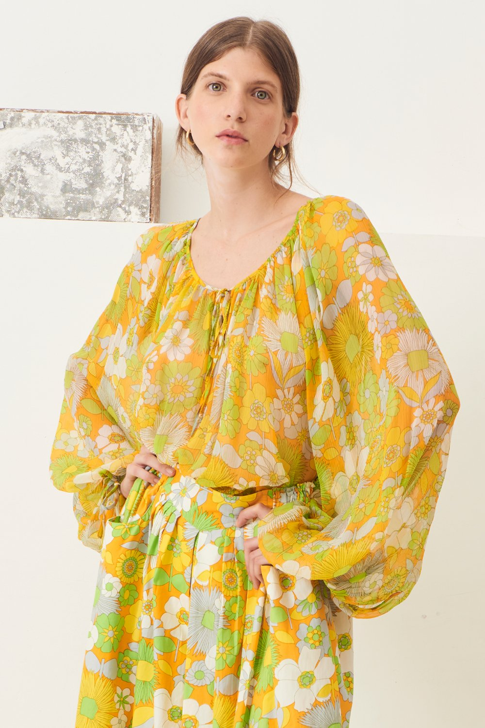 Blouse transparente Lorette - Jaune - Antik Batik (photo)