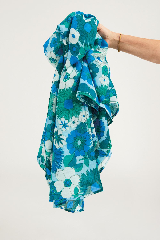 Paréo coton Lorette - Bleu - Antik Batik (photo)