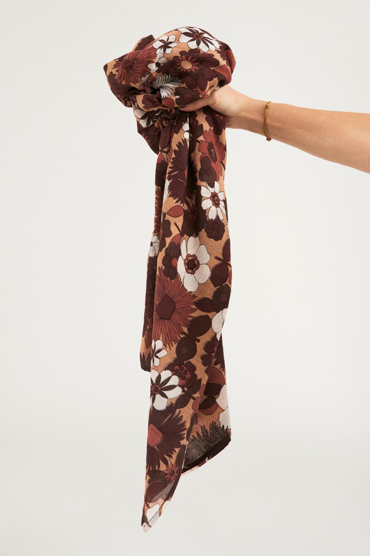 Paréo coton Lorette - Marron - Antik Batik (photo)