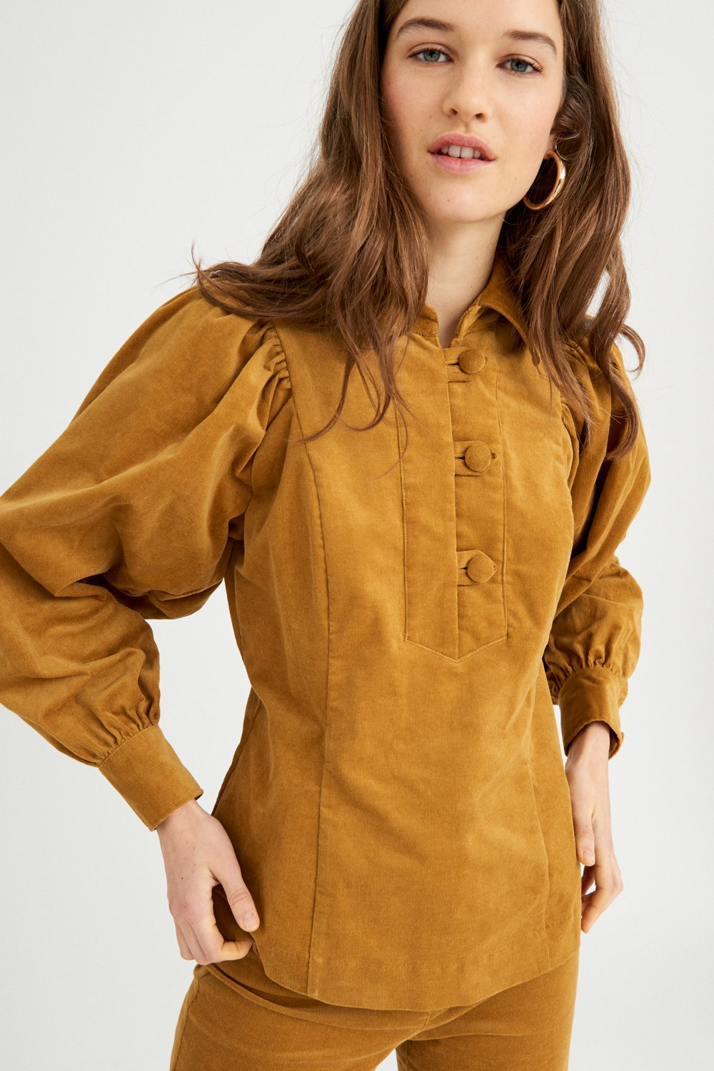 Blouse velours Mona - Ocre - Antik Batik (photo)