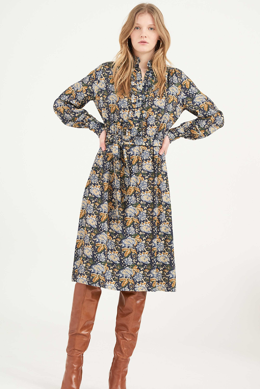 Robe chemise à fleurs Misso - Antik Batik