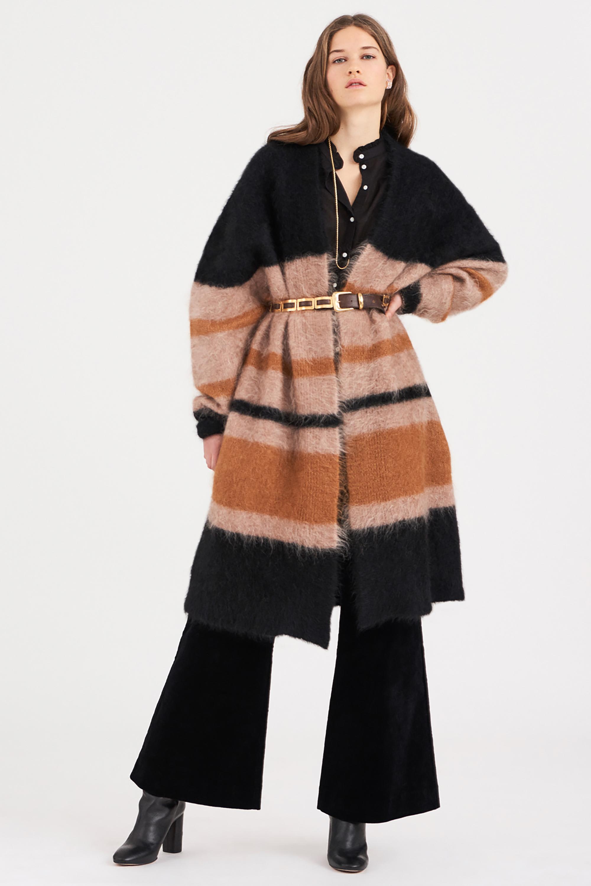 Cardigan long mohair Moa - Antik Batik