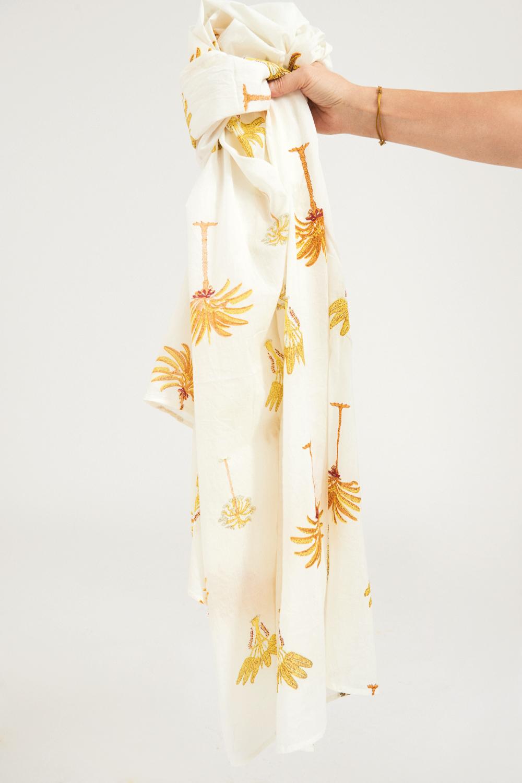 Paréo coton Palmy - Jaune - Antik Batik (photo)