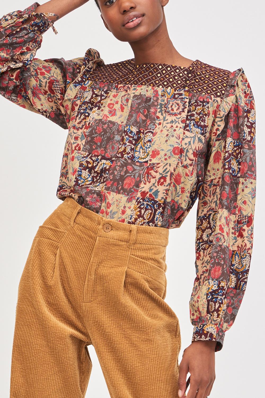 Blouse en patchwork&sequins Patsie - Antik Batik (photo)