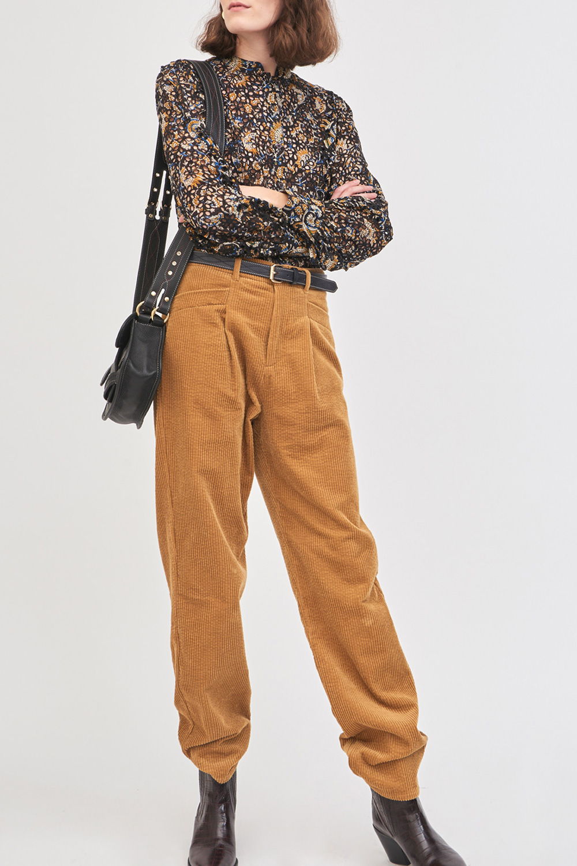Pantalon en velours côtelé Pipa - Ocre - Antik Batik (photo)