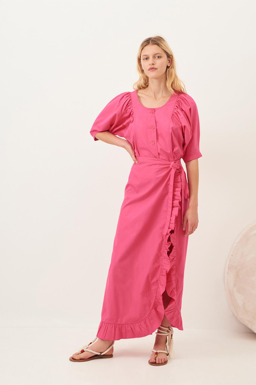 Jupe longue fendue Popy - Rose - Antik Batik (photo)