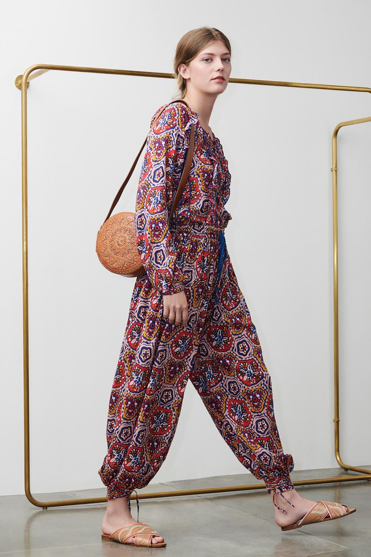 Pantalon imprimé Sam multicolore - Antik Batik (photo)