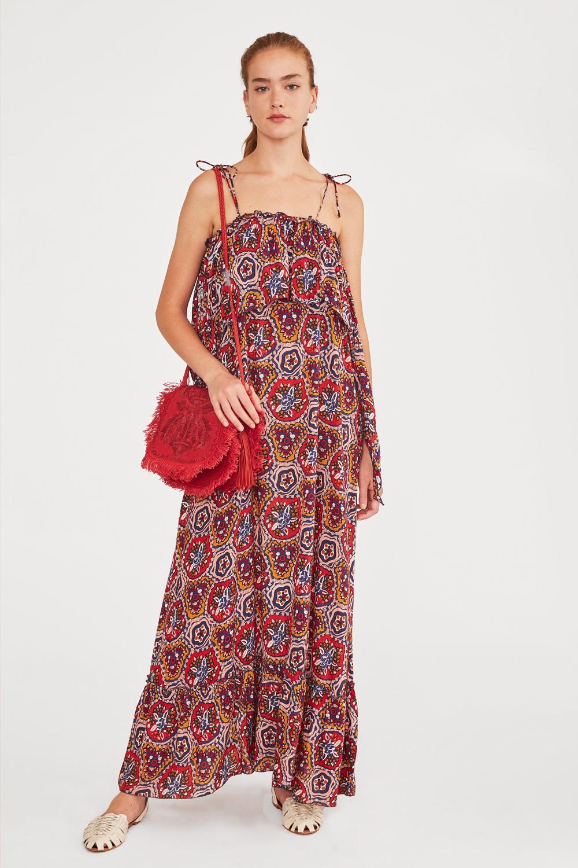 Robe à bretelles imprimée Sam multicolore - Antik Batik (photo)