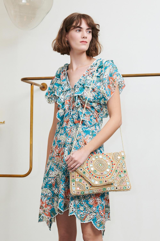 Robe imprimée Shiffly bleue - Antik Batik (photo)