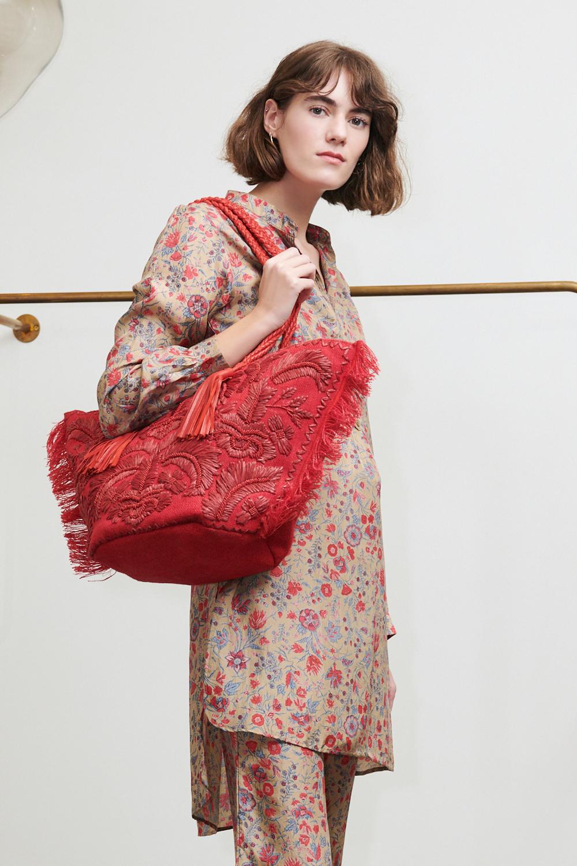 Robe imprimée Silky en soie bronze - Antik Batik (photo)
