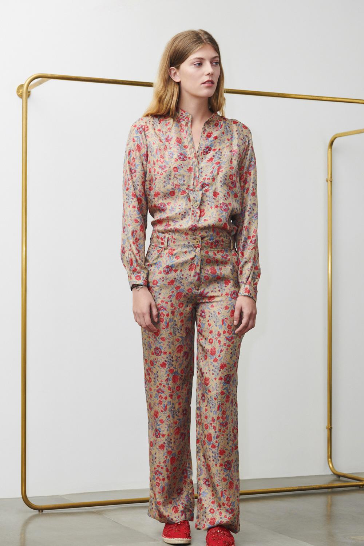 Pantalon imprimé Silky en soie bronze - Antik Batik (photo)