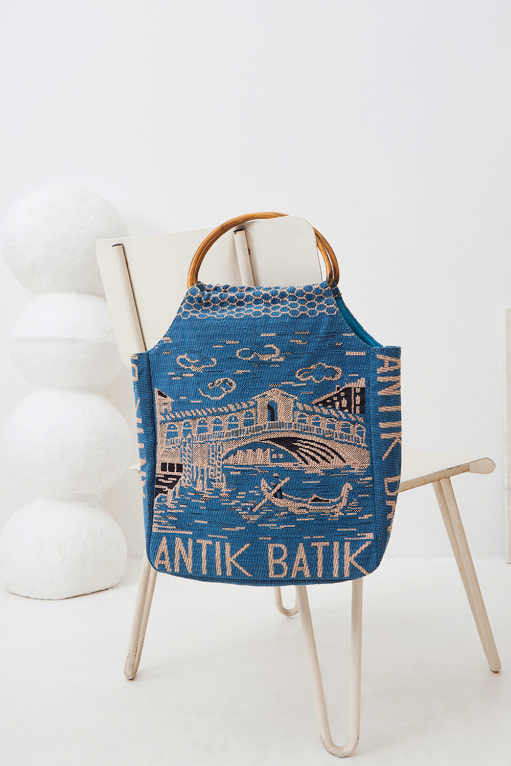 Sac à main tissé Venezia - Bleu - Antik Batik (photo)