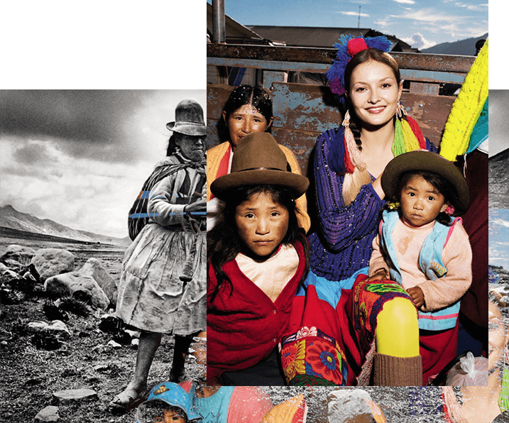 Filles - Pérou - modèle - couleur - paysage - Antik Batik